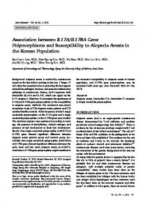 Association between IL17A/IL17RA Gene ... - KoreaMed Synapse