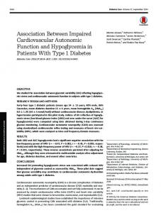 Association Between Impaired Cardiovascular ... - Diabetes Care