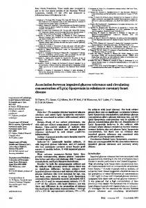 Association between impaired glucose tolerance and circulating ...