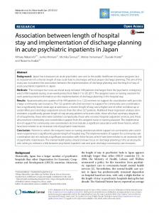 Association between length of hospital stay and implementation of ...