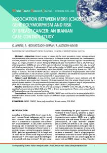 Association between MDR1 (C3435T) gene polymorphism and risk of