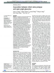 Association between mitral valve prolapse and open ...