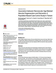 Association between Neovascular Age-Related Macular Degeneration ...