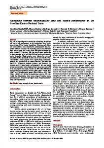 Association between neuromuscular tests and kumite performance ...