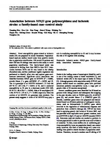 Association between NINJ2 gene polymorphisms and ... - Springer Link