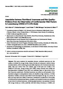 Association between Nutritional Awareness and Diet Quality - MDPI