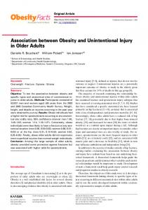 Association between Obesity and Unintentional ... - Karger Publishers