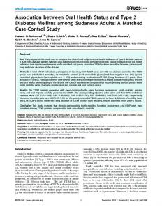 Association between Oral Health Status and Type 2 ... - ScienceOpen