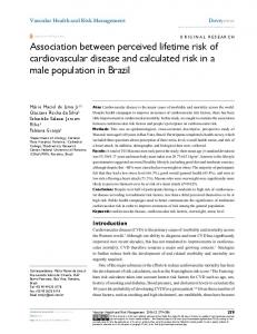 Association between perceived lifetime risk of cardiovascular disease ...