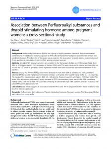 Association between Perfluoroalkyl substances and ... - Springer Link