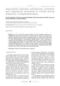 Association between periodontal condition and subgingival ... - USP
