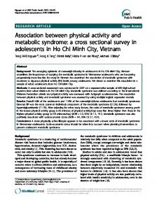 Association between physical activity and metabolic ... - BioMedSearch