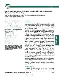 Association between Physical Activity and