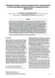 Association between physical and geochemical characteristics of ...