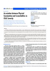 Association between Physical Examination and ...
