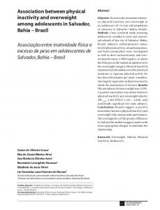 Association between physical inactivity and overweight among ...