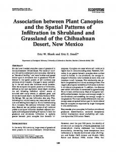 Association between Plant Canopies and the Spatial Patterns of ...