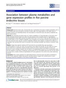 Association between plasma metabolites and gene ... - CiteSeerX