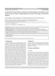 Association Between Plasma Selenium and Glutathione Peroxidase ...