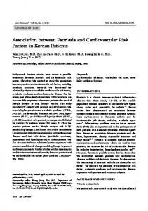 Association between Psoriasis and Cardiovascular Risk Factors in