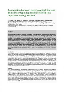 Association between psychological distress and ...