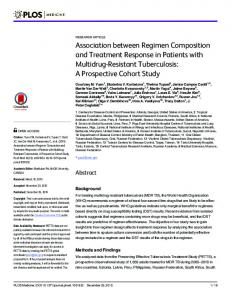 Association between Regimen Composition and ... - CDC stacks
