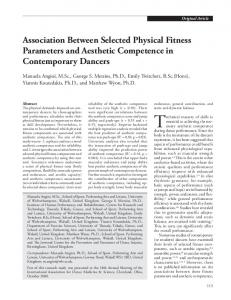 Association Between Selected Physical Fitness Parameters and ...
