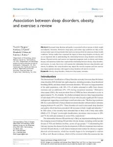 Association between sleep disorders, obesity, and ... - BioMedSearch