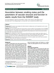 Association between smoking status and the ... - BioMedSearch