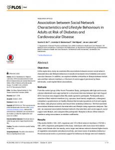 Association between Social Network Characteristics and Lifestyle ...