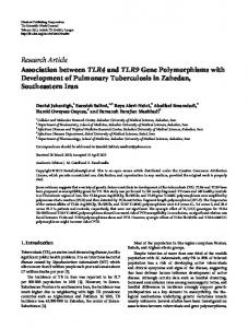 Association between TLR4 and TLR9 Gene Polymorphisms with ...