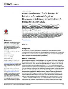 Association between Traffic-Related Air Pollution in Schools and