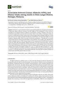 Association between Urinary Aflatoxin (AFM1) and Dietary Intake ...