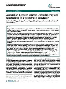 Association between vitamin D insufficiency and ... - BioMedSearch