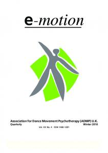 Association for Dance Movement Psychotherapy (ADMP) U.K
