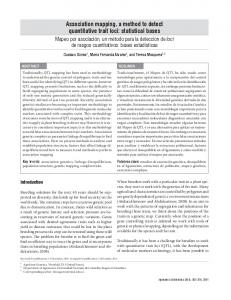 Association mapping, a method to detect ... - SciELO Colombia