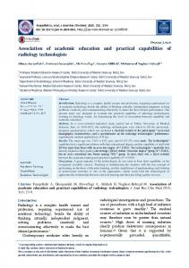 Association of academic education and practical ... - Journals