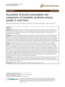 Association of alcohol consumption and ... - Semantic Scholar
