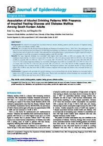 Association of Alcohol Drinking Patterns With Presence of Impaired ...