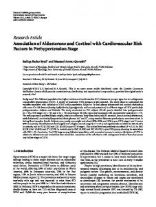 Association of Aldosterone and Cortisol with Cardiovascular Risk