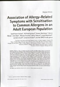 Association of Allergy-Related Symptoms with ...