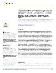 Association of ARHGAP18 polymorphisms with ... - Semantic Scholar