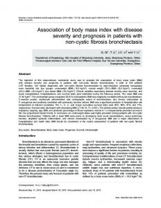 Association of body mass index with disease