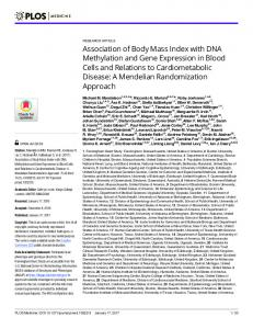 Association of Body Mass Index with DNA Methylation and Gene