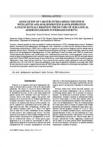 association of carotid intima-media thickness with leptin and ...
