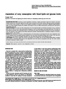 Association of curry consumption with blood lipids and glucose levels
