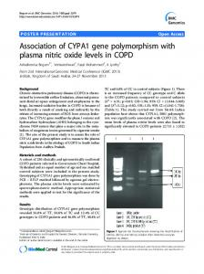 Association of CYPA1 gene polymorphism with plasma ... - CiteSeerX