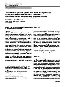 Association of glycemic profiles with whole blood polyamine among ...