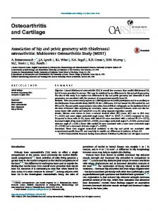 Association of hip and pelvic geometry with tibiofemoral osteoarthritis
