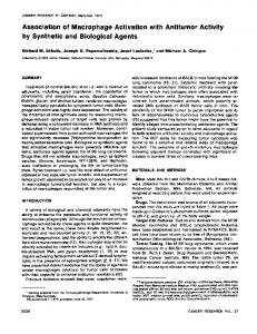 Association of Macrophage Activation with Antitumor ...